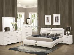 ... Bedroom S For Inspirations Stylish Coaster Q Felicity White Chrome Pc  Queen Bedroom ...