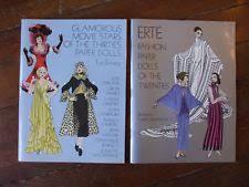 vine paper dolls erte 1920 30 glamorous stars coloring book dover uncut