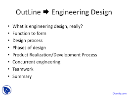 Engineering Design Phases Introduction Engineering Design And Analysis Lecture