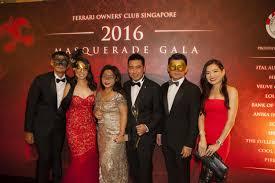 August 1, 2016 mouawad 125th anniversary event. Photos Ferrari Owners Club Singapore Celebrates With Masquerade Party Michael Schumacher F1 Ferrari Car More Icon Singapore