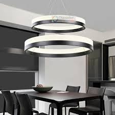 İndoor lighting fixtures two sizes modern contemporary 2 rings pendant light ceiling lamp circles led chandelier