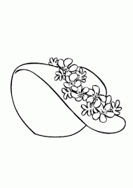 Pretty Summer Hat Coloring Page For Girls Printable Free Hats For