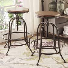 Berwick Iron Adjustable Round Backless Stool (Set of 2) by iNSPIRE Q  Classic - Free Shipping Today - Overstock.com - 18016300