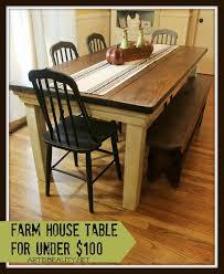 Farmhouse Kitchen Furniture Remodelaholic Build A Farmhouse Table For Under 100