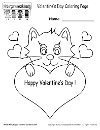 valentines day coloring pages printable valentine's day coloring pages free kindergarten holiday on kindergarten printable worksheets