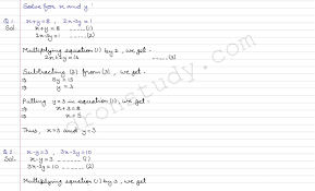 rs aggarwal class 10 solutions for linear equations dronstudy dronstudy com