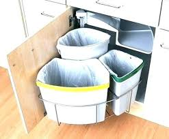 under the counter garbage cans kitchen trash can cabinet small this is countertop hole