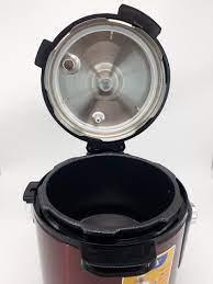 Nồi áp suất điện Matika 6L 1000W có điều chỉnh áp màu đỏ đen MTK - 9262 -  HÀNG CHÍNH HÃNG - Nồi áp suất