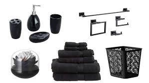 black and white bathroom accessories.  Black Black Bathroom Accessories Of The Picture Gallery To And White T