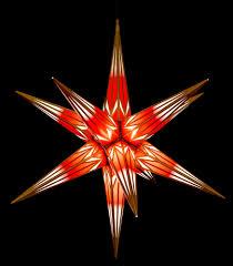 Haßlauer Weihnachtsstern Für Innen Und Außen Rotweiß Mit Goldmuster Inkl Beleuchtung 75 Cm