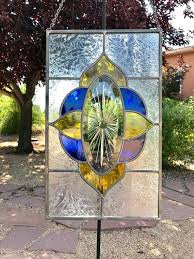 stained glass hanging panels sunburst panel image 0 hardware stained glass hanging