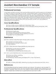 Retail Merchandiser Resume Sample Assistant Merchandiser Sample Enchanting Visual Merchandiser Resume