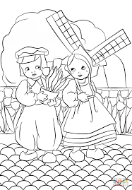 Small Picture Dutch Boy and Girl coloring page Free Printable Coloring Pages