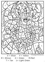 Small Picture Color by number coloring pages Teaching Eleme