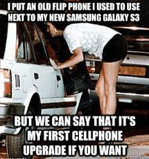 I put an old flip phone i used to use next to my new samsung ... via Relatably.com