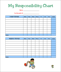Weekly Chore Chart Template For Kids 7 Kids Chore Chart Templates Free Word Excel Pdf