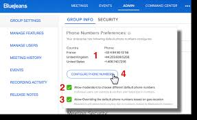 How To Customize Your Dial In Numbers Bluejeans Support
