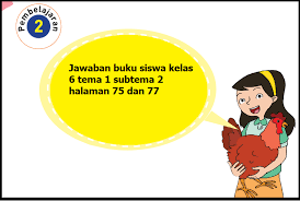 Berikut ini telah tersedia kunci jawaban buku tematik tema 1 selamatkan makhluk hidup kelas 6 halaman 18, 19, 20, 21, 22 dan 24, pembelajaran 2 subtem Kunci Jawaban Buku Siswa Tema 1 Kelas 6 Subtema 2 Halaman 75 Dan 77 Guru Baik