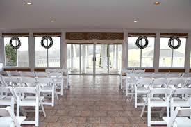 AshleyMike Indoor wedding ceremony set up