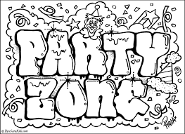 Small Picture Graffiti coloring pages names graffiti coloring pages party zone
