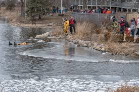 the palos heights fire protection district will perform an ice rescue demonstration during lake katherine nature center botanic gardens winterfest on