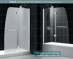 bathtub glass doors folding trackless tub full size