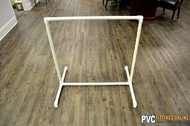 diy pvc clothes rack completed