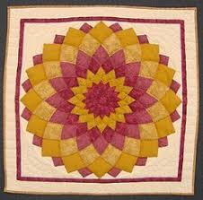Amish Quilt Gallery Two & Custom Amish Quilts - Dahlia Small Patchwork Wall Hanging Pink Yellow Adamdwight.com