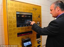 Gold Vending Machine Prices Stunning Gold To Go' Vending Machine Opens In Westfield Shopping Centre
