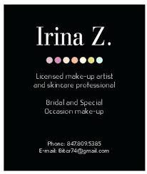 makeup artist business cards inspiration makeup business cards designs elegant irina z make up artist business
