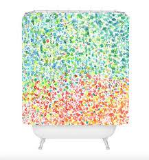 colorful shower curtains. Colorful Shower Curtains - Laura Trevey Designs A