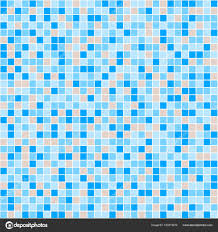 blue and beige ceramic tile mosaic in swimming pool stock vector
