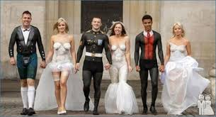 entertaining wedding picture site! weddings, fun stuff wedding Ghetto Wedding Invitations what a way to save money! why didn't i think of this? who needs a dress when you can airbrush one on Worst Wedding Invitations