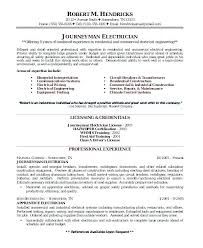 Example Electrician Resume Stunning Journeyman Electrician Resume Awesome Electrical Resume Format