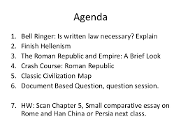 from republic to empire rome document based question thesis  3 agenda 1