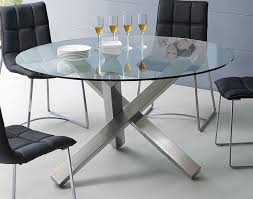 Image White Round Glass Dining Table With Unique Metal Base Bronx Ny 569 00 In Modern Design Thetastingroomnyccom Round Glass Dining Table With Unique Metal Base Bronx Ny 569 00 In