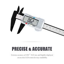 Electronic Caliper With 6 Inch 150mm Vernier Caliper With Lcd Micrometer
