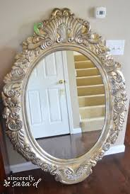 When painting a mirror, always tape off the mirror itself. If possible  shove paper between the frame and mirror. Then, tape the paper in place.