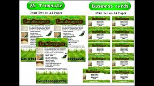 lawn care advertising templates awesome landscape gardening leafletsflyer template for lawn care