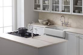kohler k64890 whitehaven selftrimming apron front single basin sink with tall apron white bowl sinks amazoncom k 6489 0 475