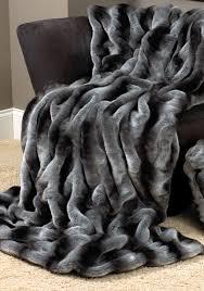 Faux Fur Blanket Queen | HomesFeed & Black Grey Color Of Faux Fur Blanket Queen Adamdwight.com