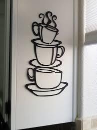 sensational design coffee cup wall decor home pictures house black java silhouette art metal mug kitchen
