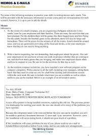 Examples Of Memos To Staff Memos S Practice Scenarios Pdf