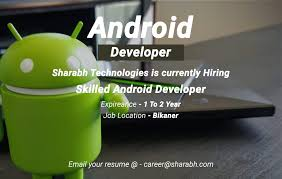 Android Developer Post Sharabh Technologies