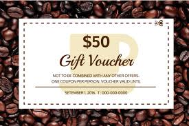 Gift Voucher Template Cafe Gift Certificate Template Venngage