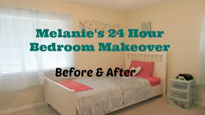 Makeover Bedroom 24 Hour Bedroom Makeover Before And After Youtube