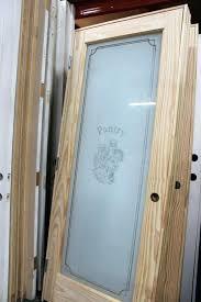 glass pantry door half frosted doors ideas 24 x 80