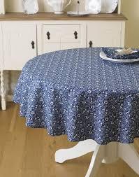 licensed william morris eyebright 147cm 58 round fl cotton tablecloth