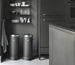stainless trash can kitchen