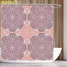 decorative shower curtain arabian decor collection arabesque round patterns in oriental ic eastern persian religious motif